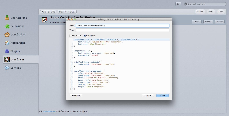 How to change Firebug font in Firefox ~ by Dipak C  Gajjar